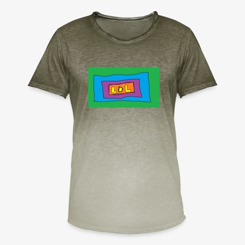 LOL is a word that i say all day - T-shirt med färgtoning herr