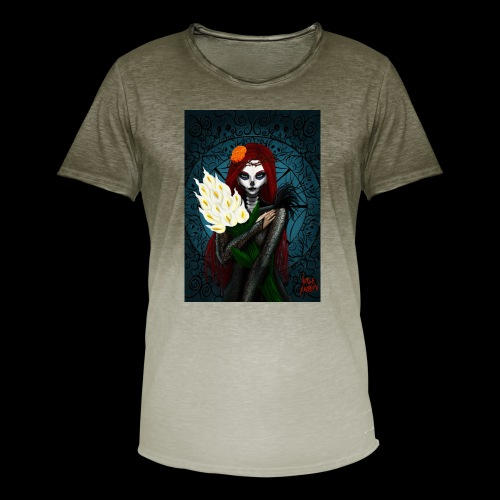 Death and lillies - Men's T-Shirt with colour gradients