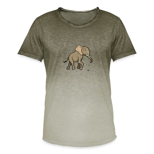 African Elephant - Men's T-Shirt with colour gradients