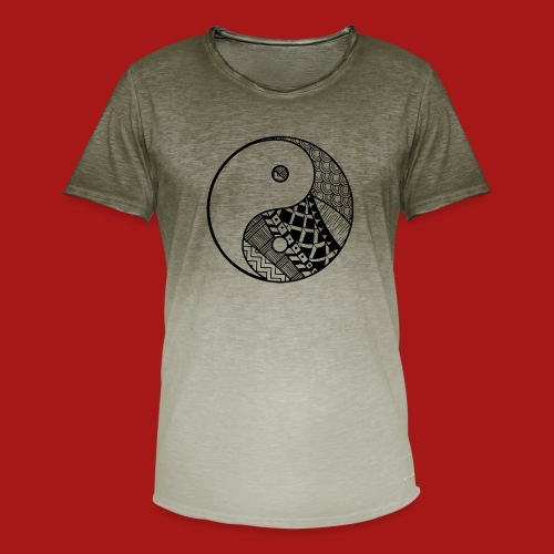 Decorative-Yin-Yang - Herre T-shirt i colour-block-optik
