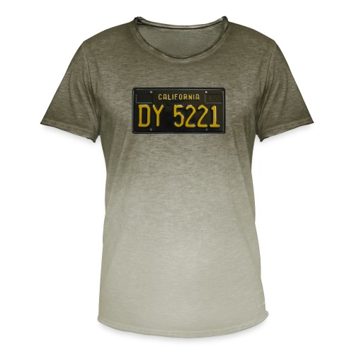 CALIFORNIA BLACK LICENCE PLATE - Men's T-Shirt with colour gradients