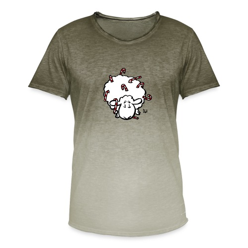 Candy Cane Sheep - Men's T-Shirt with colour gradients