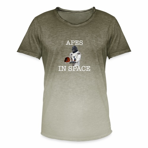 Apes in Space - Men's T-Shirt with colour gradients