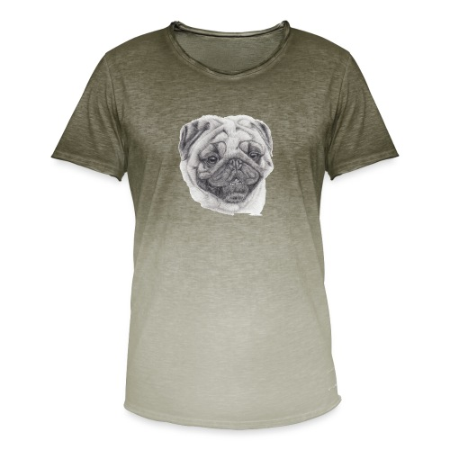 Pug mops 2 - Herre T-shirt i colour-block-optik