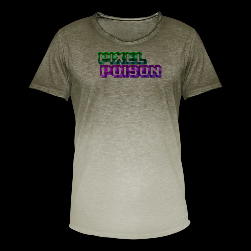 Pixel Poison Logo - Men's T-Shirt with colour gradients