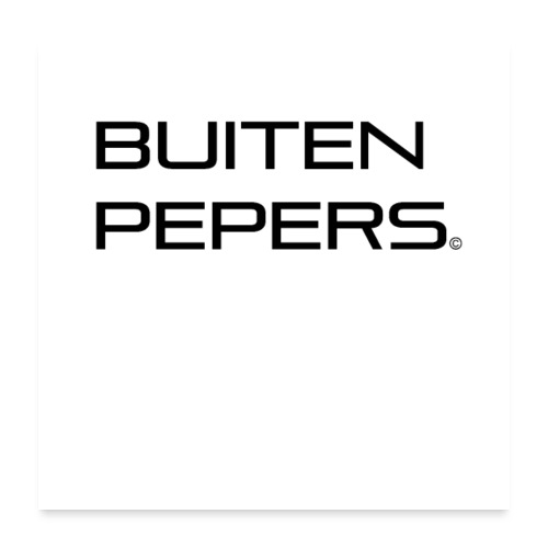Buitenpepers - Poster 60x60 cm