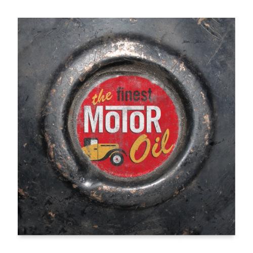 motoroil vintage - Poster 60x60 cm