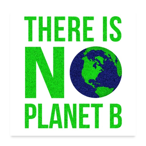 There Is No Planet B - Tag der Erde - Poster 60x60 cm