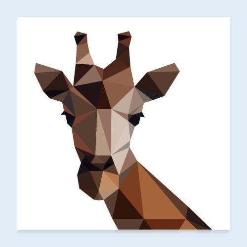 Giraffe 3D Kontur - Poster 1:1 - Poster 60x60 cm