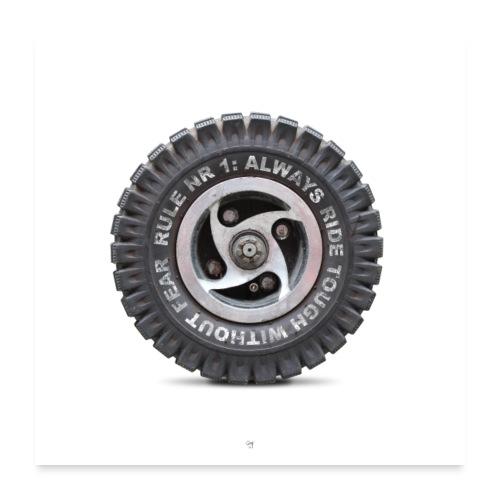 toughwheel - Poster 60x60 cm