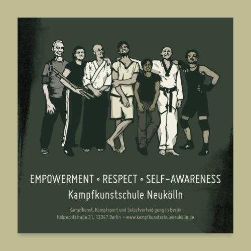 Kampfkunstschule Neukölln Poster 1:1 - Poster 60x60 cm