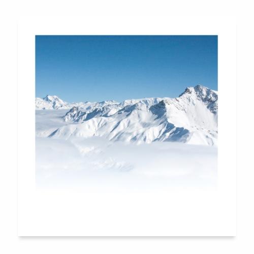 Vallée Alpine - Poster 60 x 60 cm