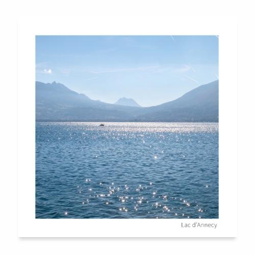 Lac d'Annecy - Poster 60 x 60 cm