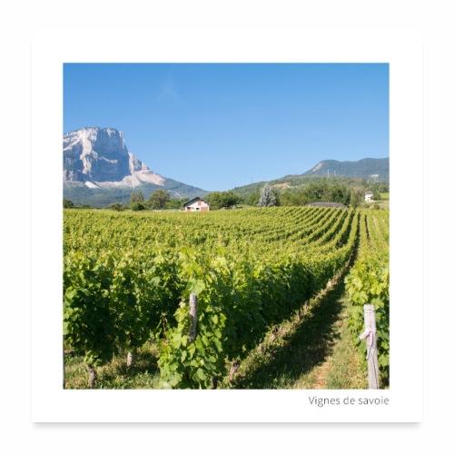 Vignes de Savoie - Poster 60 x 60 cm