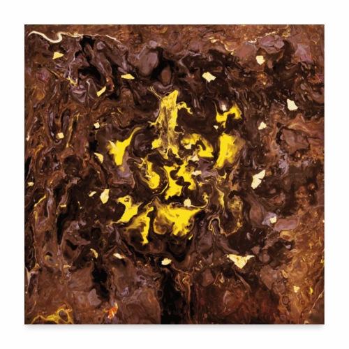 Golden Flakes - Poster 60x60 cm