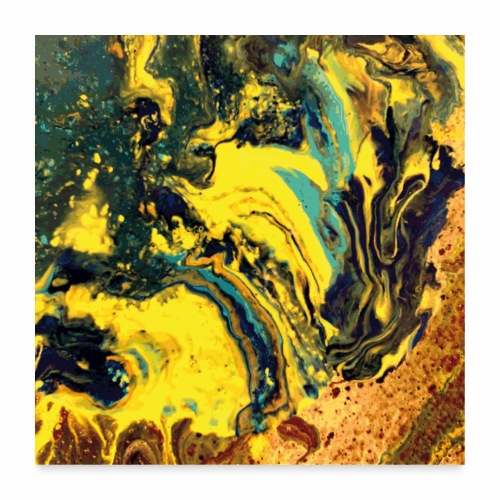Pouring embers - Poster 60x60 cm