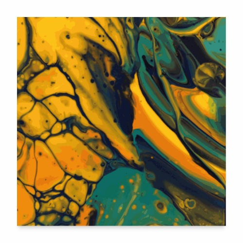 Yellow cells - Poster 60x60 cm