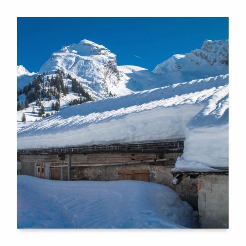 Chalet de montagne dans les Aravis - Poster 60 x 60 cm