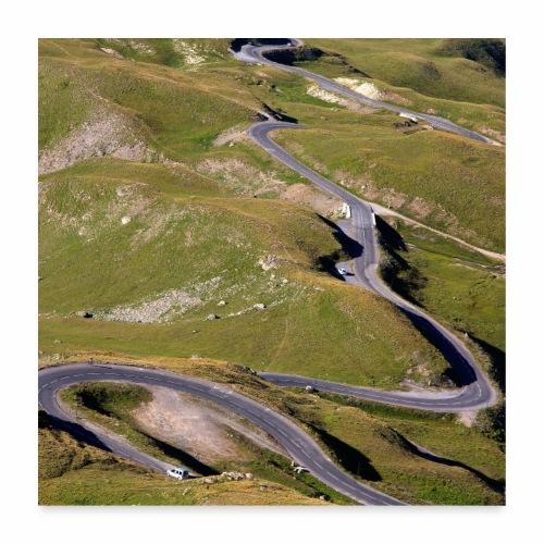 Route du col du Galibier - Poster 60 x 60 cm