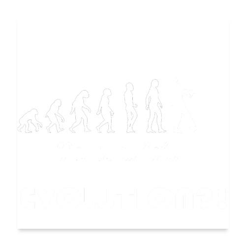 Evolution social media weiß - Poster 60x60 cm