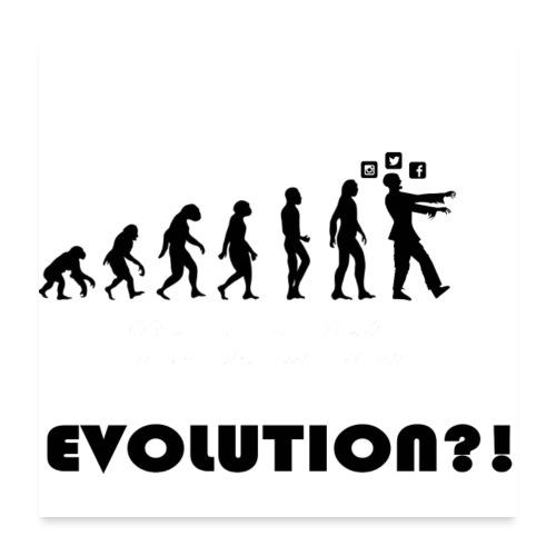 Evolution social media - Poster 60x60 cm