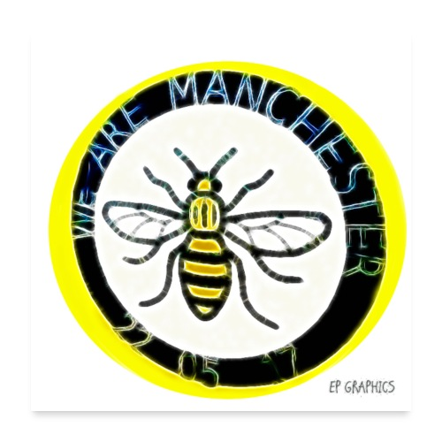 Manchester Bee - Poster 24 x 24 (60x60 cm)