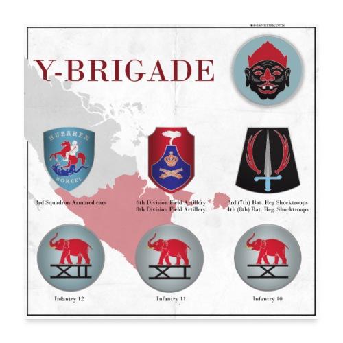 Y-Brigade - Poster 60x60 cm