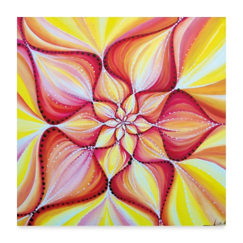 SoulArt Mandala Blume der Freude - Poster 60x60 cm