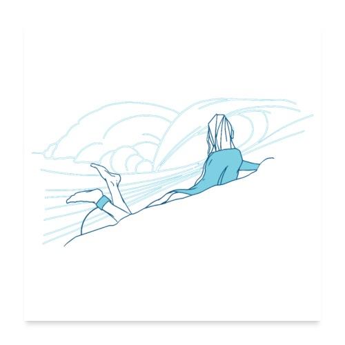 Surfer girl - Poster 60 x 60 cm