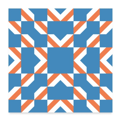 Blue Orange - Poster 60x60 cm