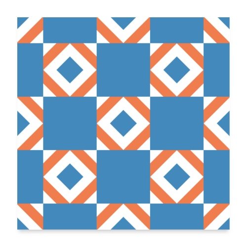 Blue Orange 2 - Poster 60x60 cm