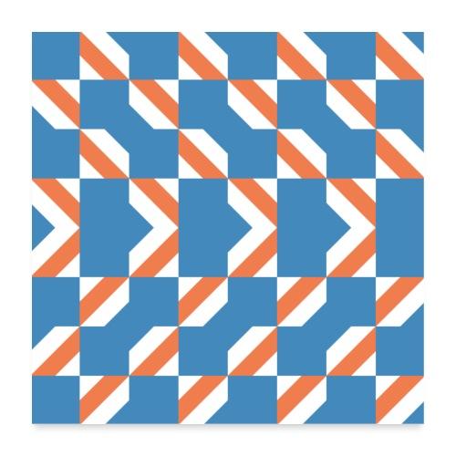 Blue Orange 4 - Poster 60x60 cm