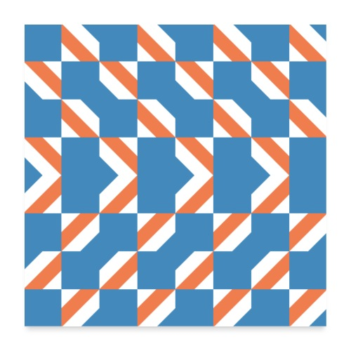 Blue Orange 4 - Poster 60x60 cm