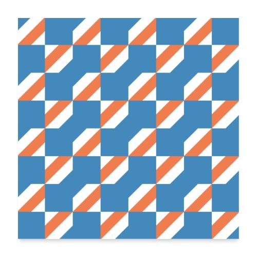 Blue Orange 3 - Poster 60x60 cm