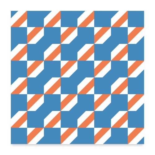 Blue Orange 3 - Poster 60x60 cm