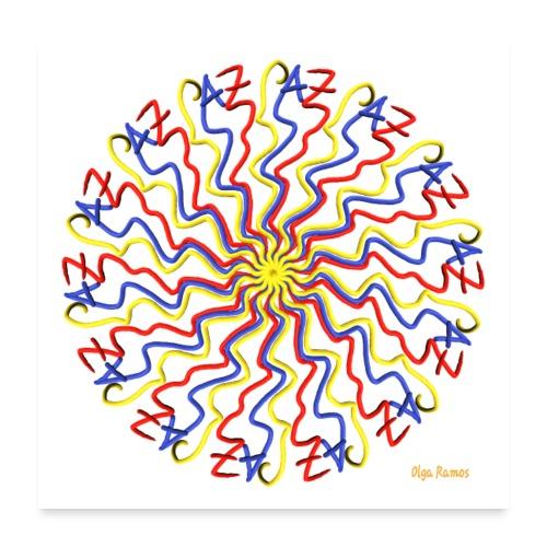 Escribo Paz (Fondo Blanco) - Póster 60x60 cm