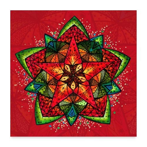 SoulArt Mandala Sternenfest - Poster 60x60 cm