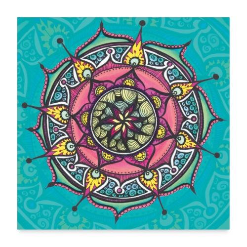 SoulArt Mandala Freude - Poster 60x60 cm