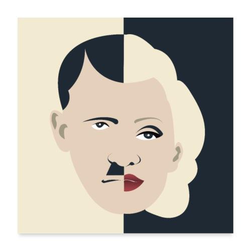 Dolfi & Marilyn - Adolf Monroe - Poster 60 x 60 cm