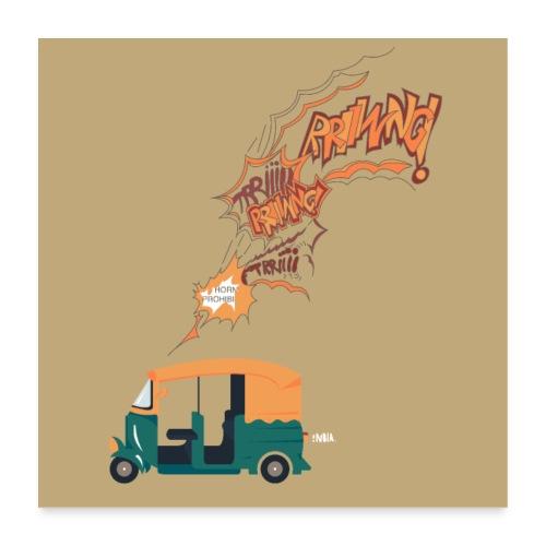 L'Inde et les klaxons interdits - Poster 60 x 60 cm