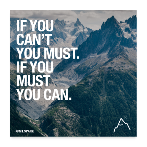 if you can't, you must. If you must, you can - Poster 60x60 cm