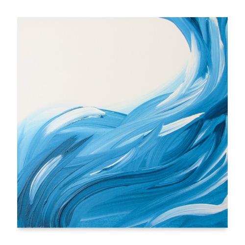 Wipeout zwei quadratisch - Poster 60x60 cm