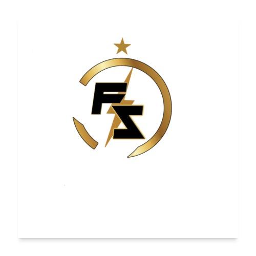 FS Logo Nero - Poster 60x60 cm
