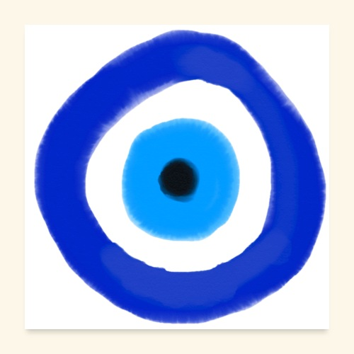 Blue evil eye Water Colour - Poster 60x60 cm
