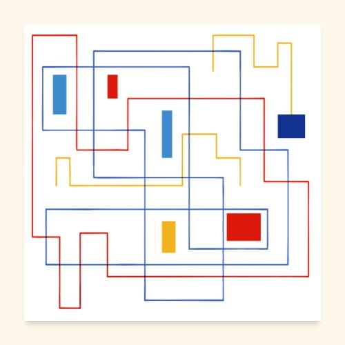 Daedalus Key - Poster 60x60 cm