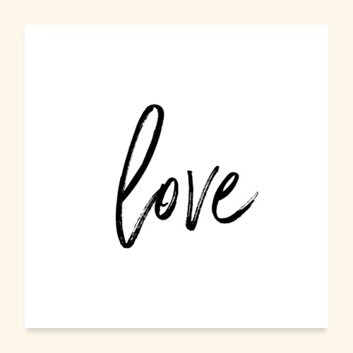 poster love - Poster 60x60 cm