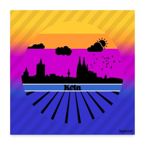 Köln Sommergefühle - Poster - Poster 60x60 cm