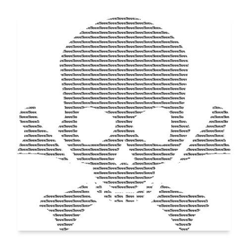 Geschenkidee - love skull - Totenschädel - Poster 60x60 cm