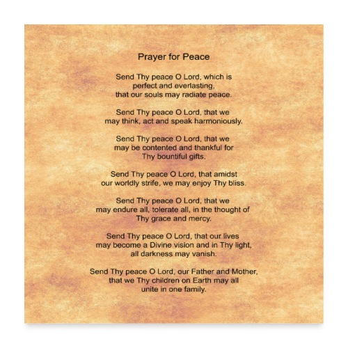 Prayer for Peace - Poster 24 x 24 (60x60 cm)