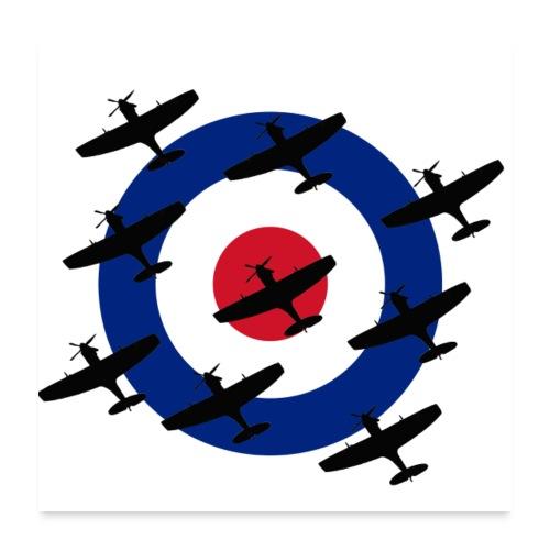 Spitfire vintage warbird - Poster 24 x 24 (60x60 cm)